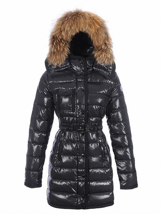 Moncler Armoise Long Women Jacket Dark Blue