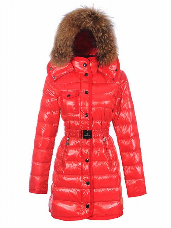 Moncler Armoise Long Women Jacket Orange