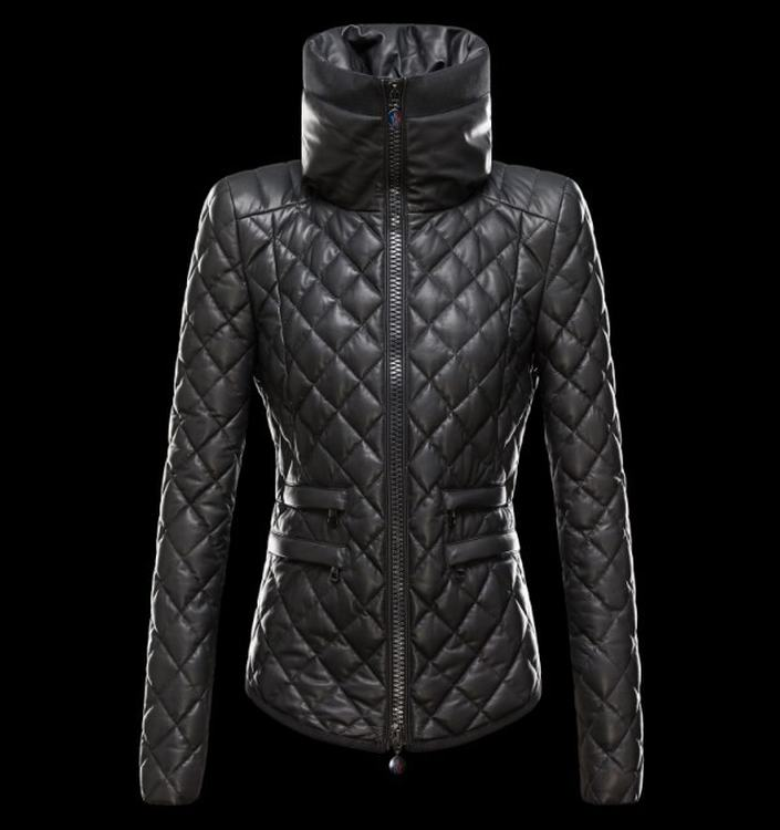 Moncler Femelle Women Jacket Dark Blue