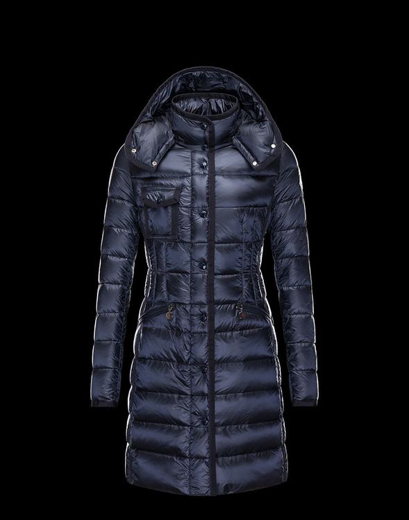 Moncler Hermine Women Jacket Navy Blue