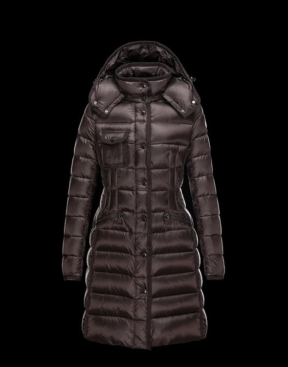 Moncler Hermine Women Jacket Red Brown