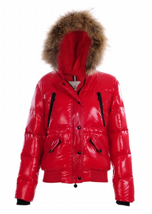 Moncler Hubert Women Jacket Red Black