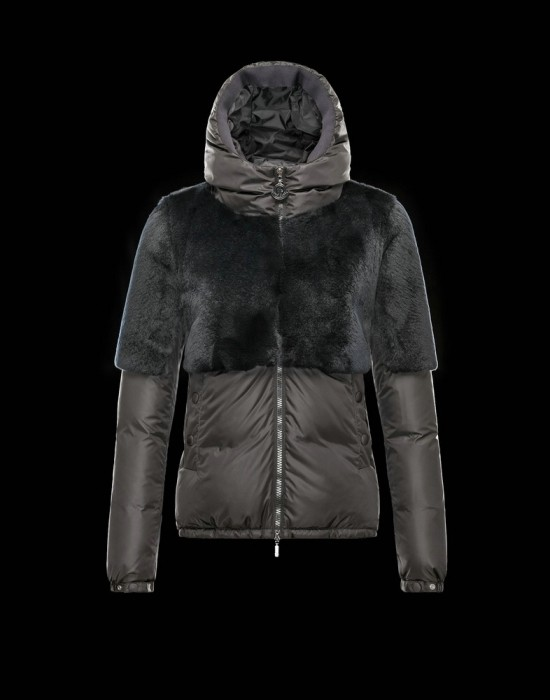 Moncler Lieux Women Jacket Grey Black