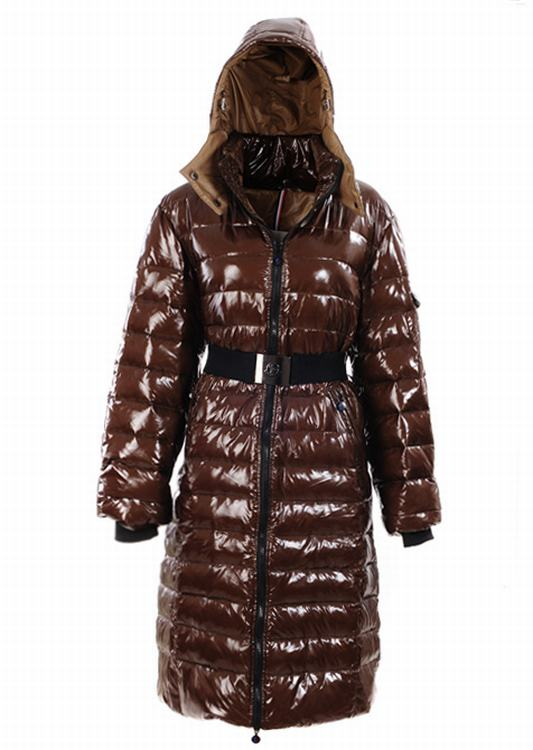 Moncler Nantesfur 02 Long Women Jacket Brown