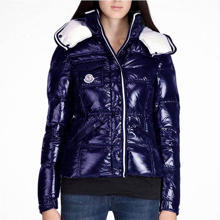 Moncler Quincy Women Jacket Dark Cherry Purple Blue