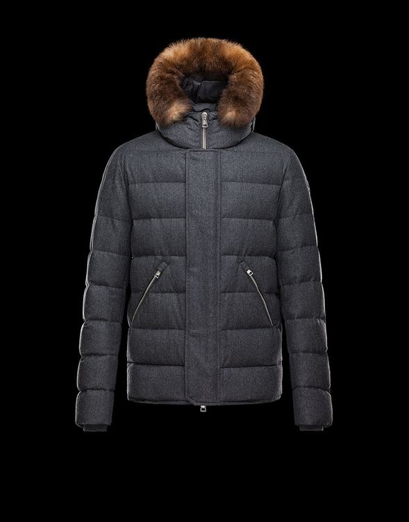MONCLER BERNIER Men Gray Brown