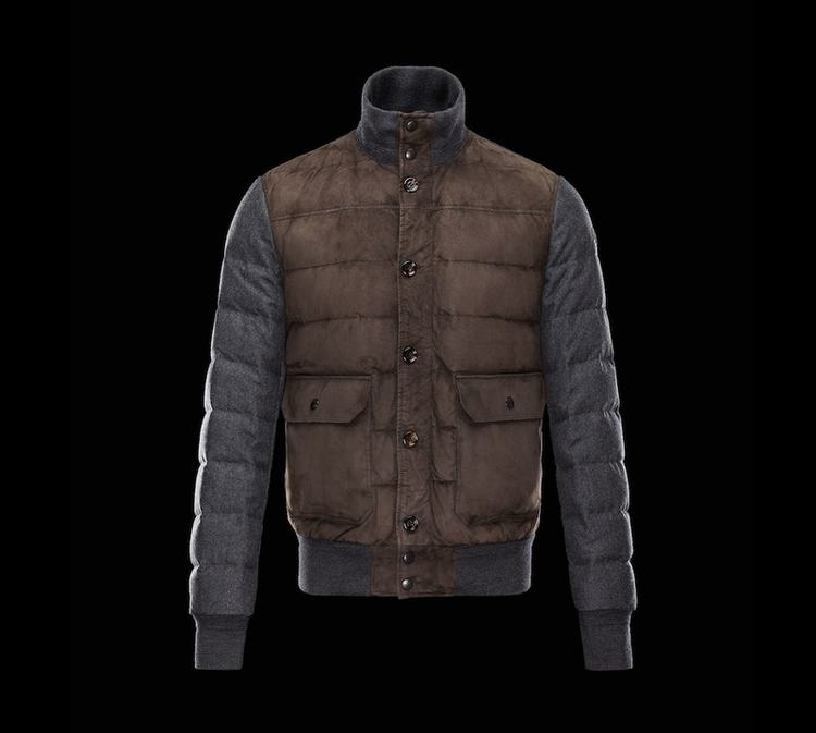 MONCLER BRANDON Men Brown Gray