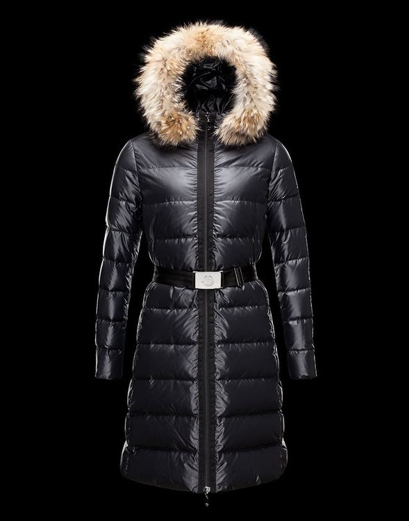 MONCLER NANTESFUR Women Dark Blue