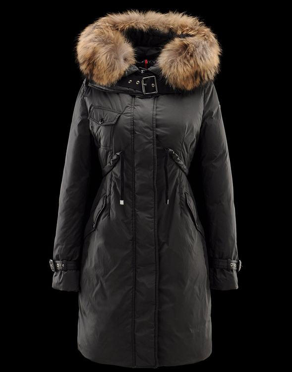 MONCLER PHALANGERE Women Black Brown Fur Cap