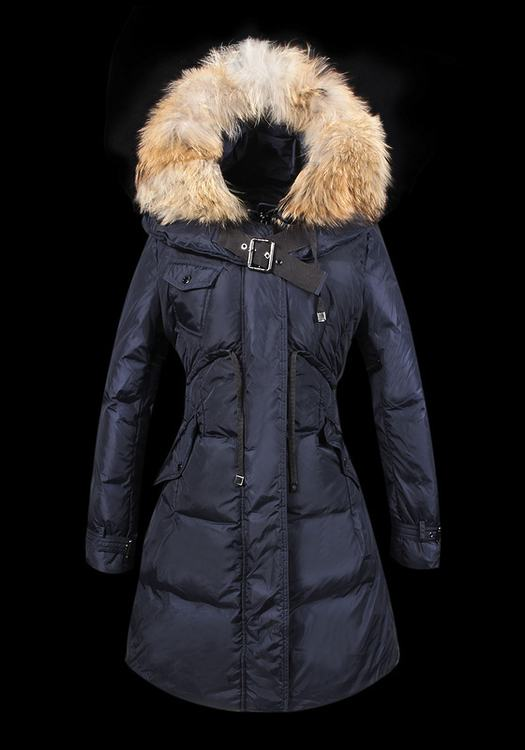 MONCLER PHALANGERE Women Blue Wool Fur Cap