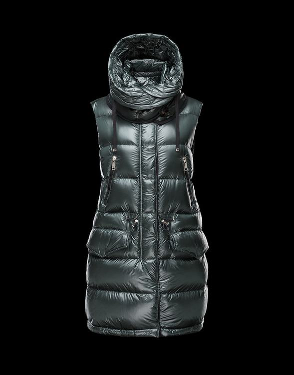 MONCLER BEAUMESNIL Women VEST Green