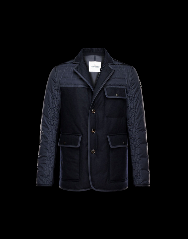 MONCLER BOURCE Men Drak Blue