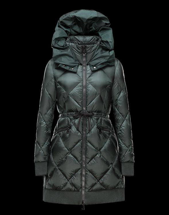 MONCLER VERRERIE Women Green Jacket