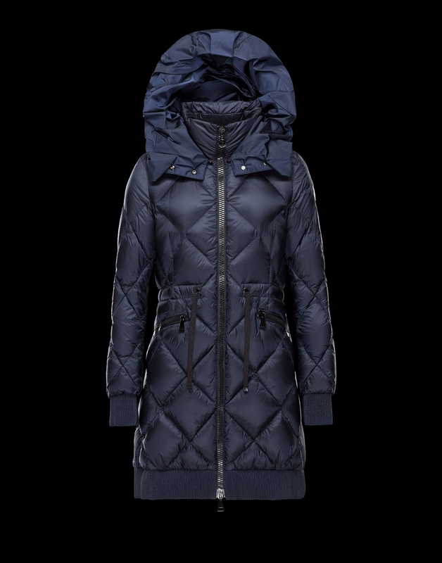 MONCLER VERRERIE Women Navy Jacket