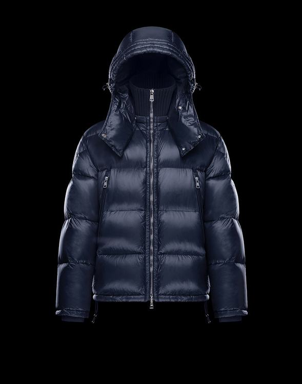 Moncler Pascal Blue Reduced Mens Nylon Down Jacket