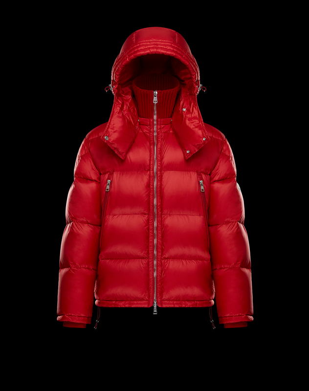 Moncler Pascal Red Reduced Mens Nylon Down Jacket