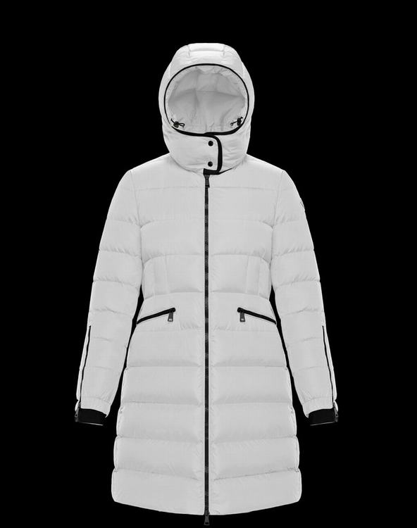 Moncler BETULONG Women Long Jacket White