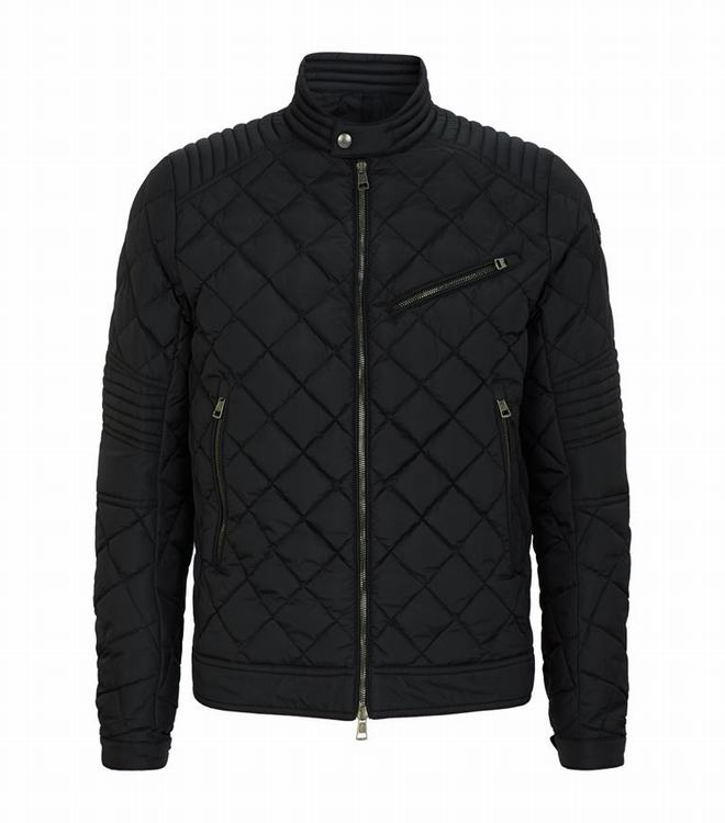 Moncler BREITMAN Men BIKER Jacket Black