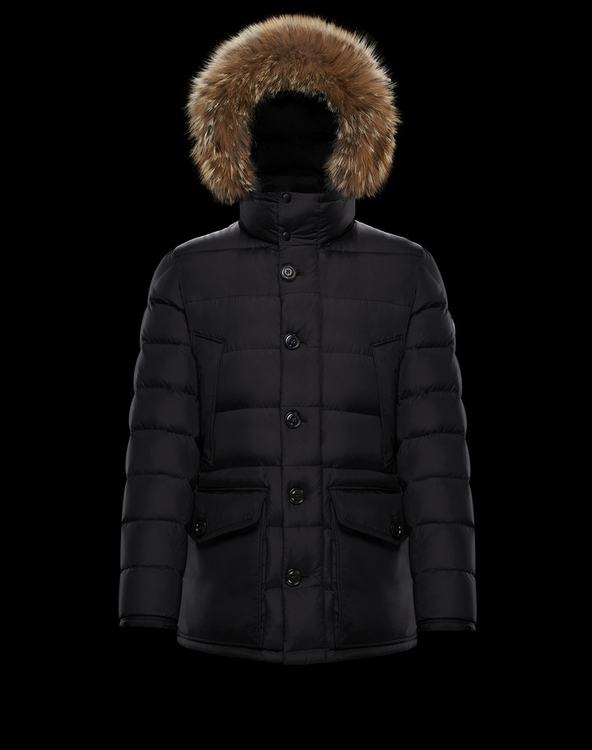 Moncler CLUNY Women Down Jacket With Fur Collar Black