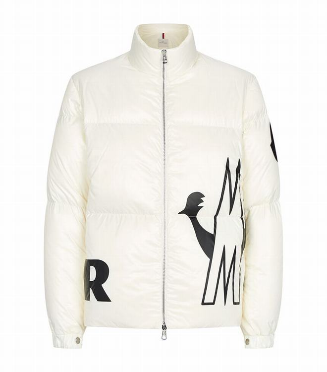 Moncler FRIESIAN Men Friesian Logo Graphic Jacket White