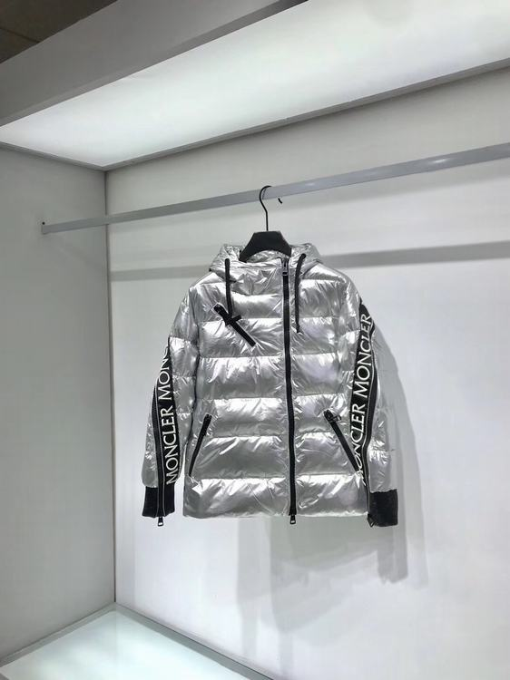 Moncler Women Down Jacket Silver