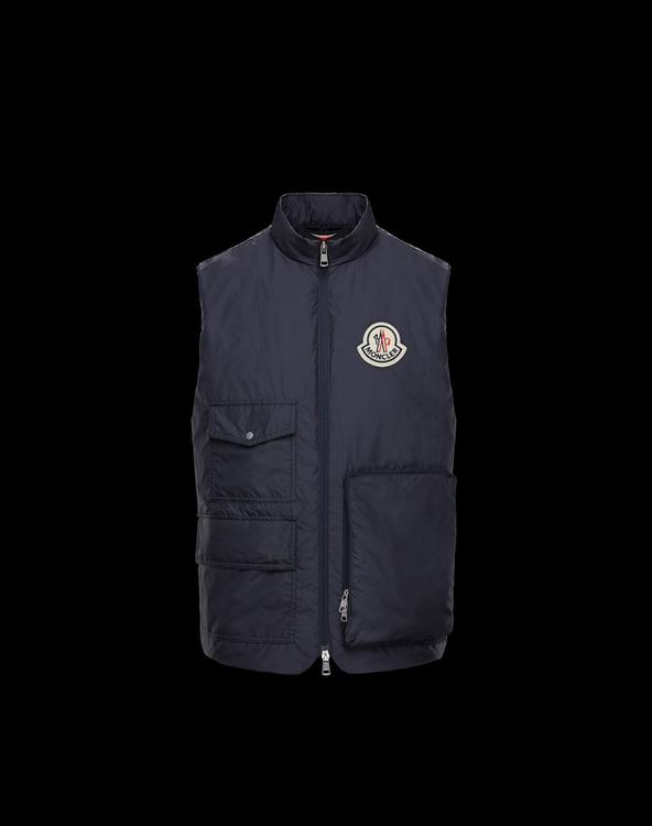MONCLER 1952 BOURGES Mens VEST Blue