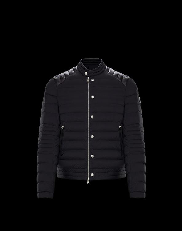 MONCLER BARRAL MENS BIKER JACKET Black