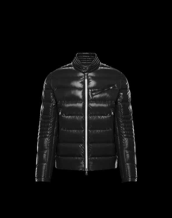 MONCLER BERRIAT MENS BIKER JACKET Black