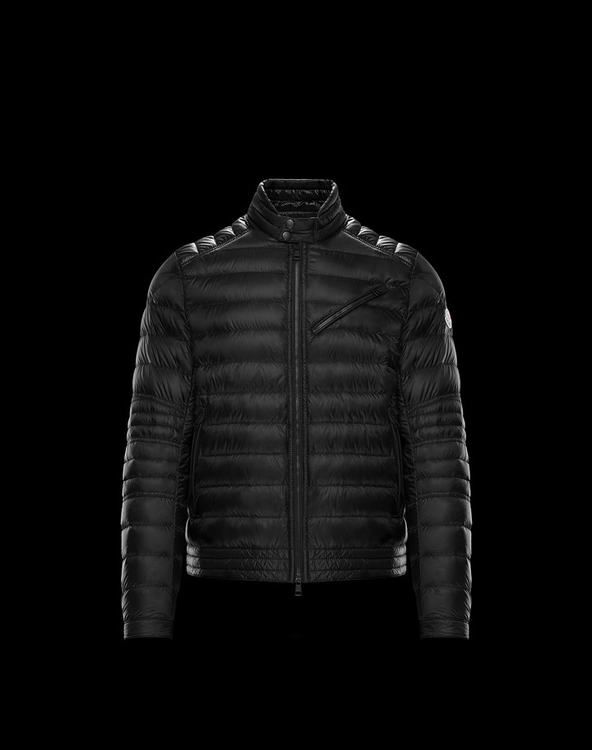 MONCLER ROYAT MENS BIKER JACKET Black