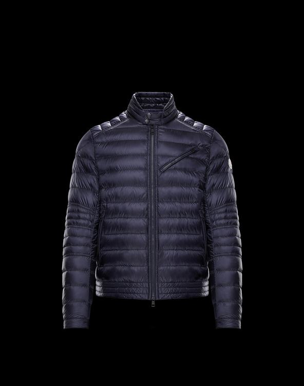 MONCLER ROYAT MENS BIKER JACKET Blue