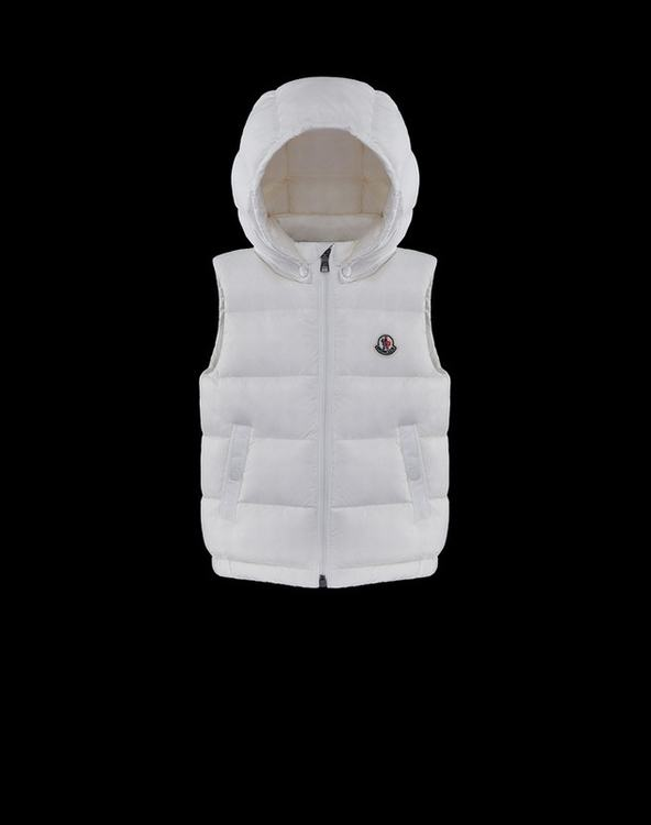 Moncler Albin Kids Sleeveless Jacket White