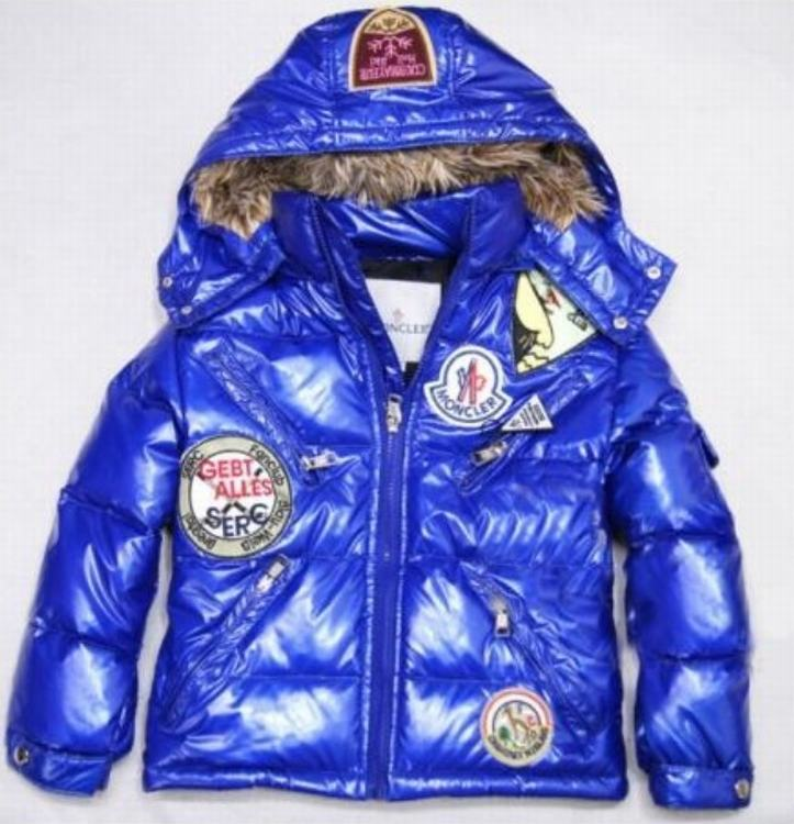 Moncler Badge Kids Jacket Blue