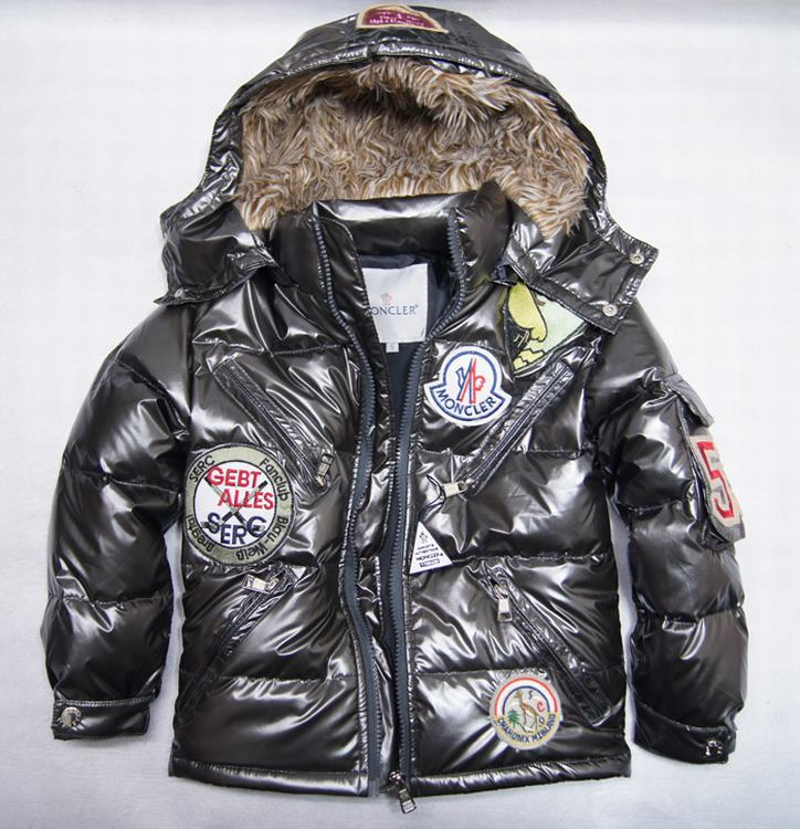 Moncler Badge Kids Jacket Dark Grey