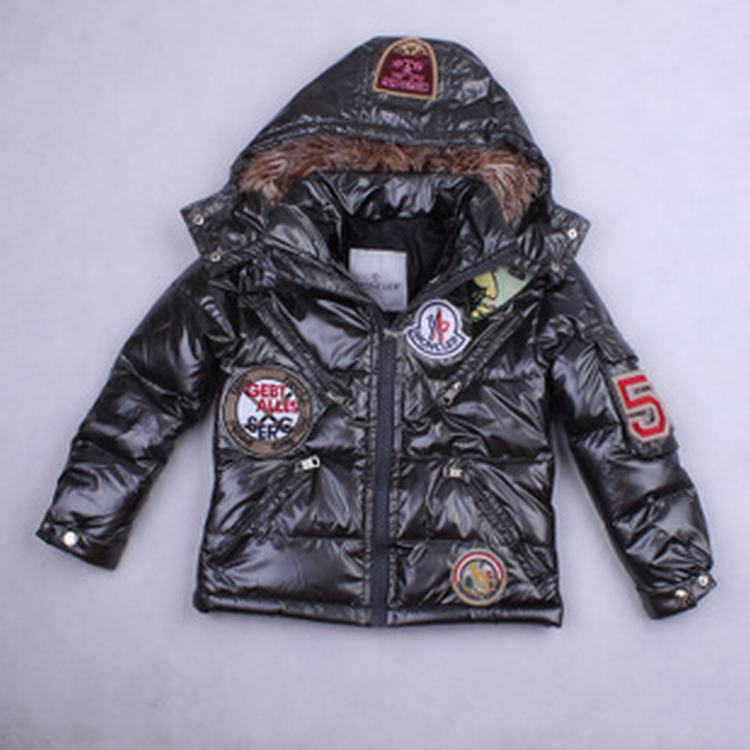 Moncler Badge Kids Jacket Grey