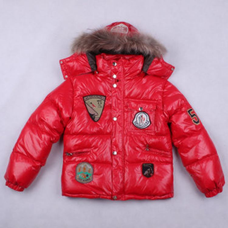 Moncler Badge Kids Jacket Orange