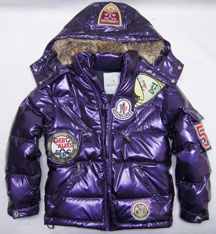 Moncler Badge Kids Jacket Purple