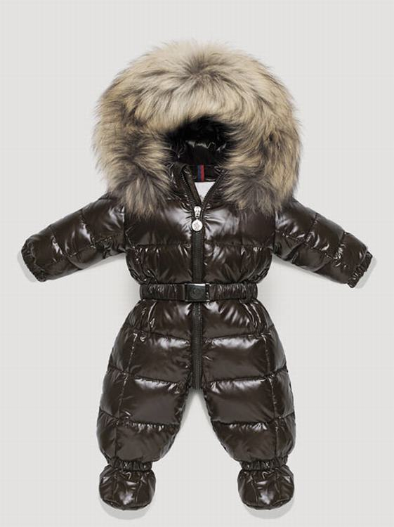 Moncler Crystal Kids Suits Brown