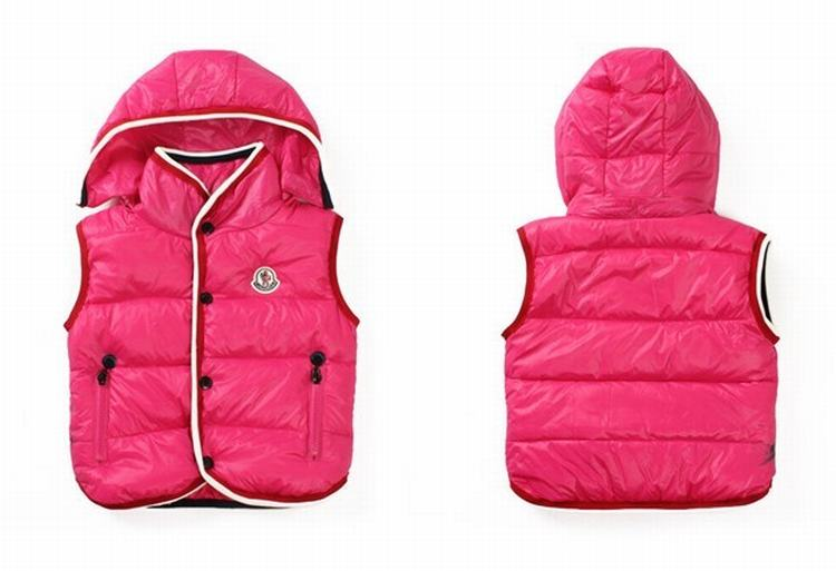 Moncler Down Sleeveless Vest 12 Kids Jacket Pink