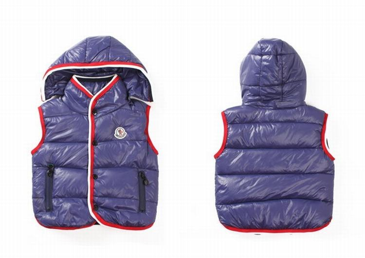 Moncler Down Sleeveless Vest 12 Kids Jacket Purple