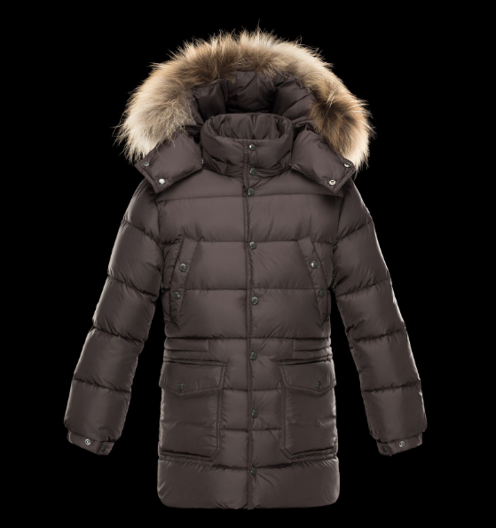 Moncler Enfant Affton Kids Jacket Brown