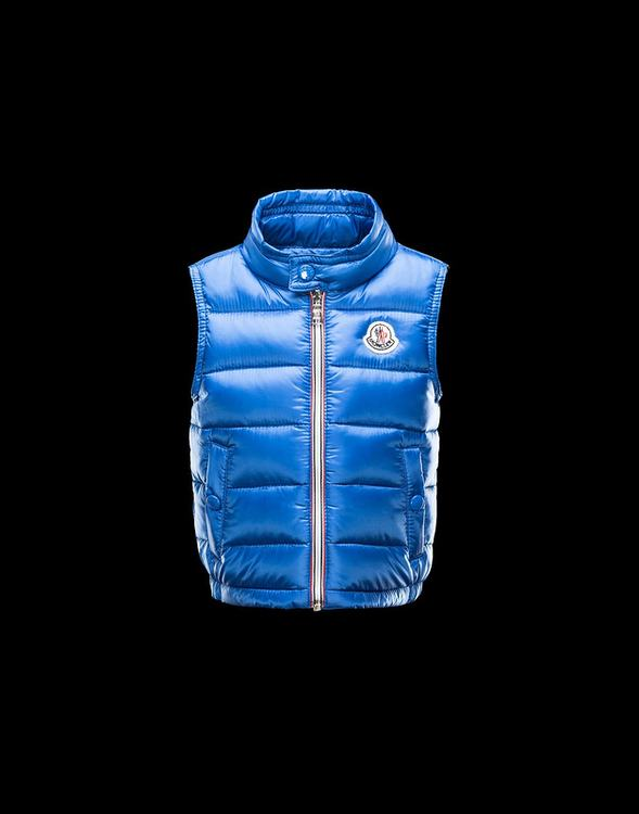 Moncler Enfant Amaury Kids Sleeveless Jacket Royal Blue