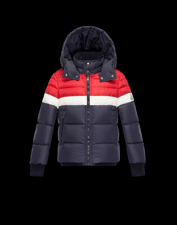 Moncler Enfant Aymod Kids Jacket Red White Dark Blue