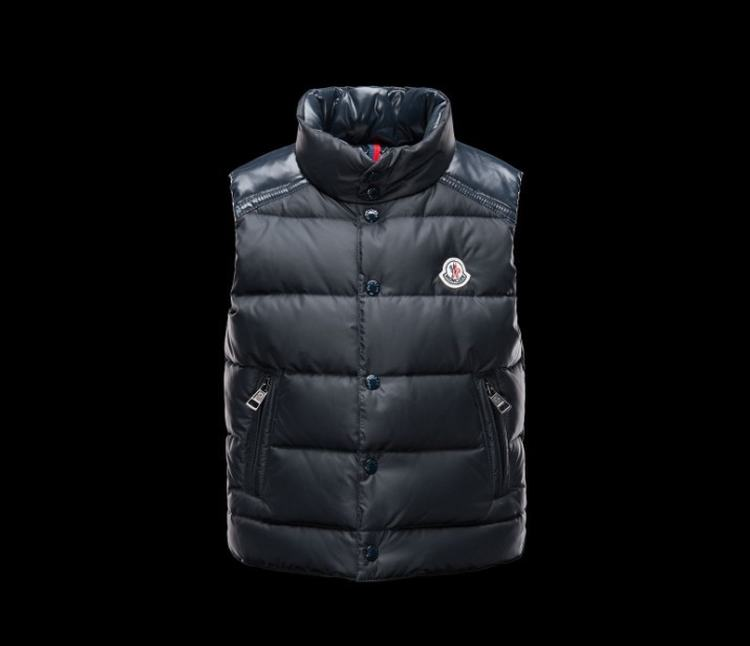 Moncler Enfant Cheval Kids Sleeveless Jacket Dark Blue