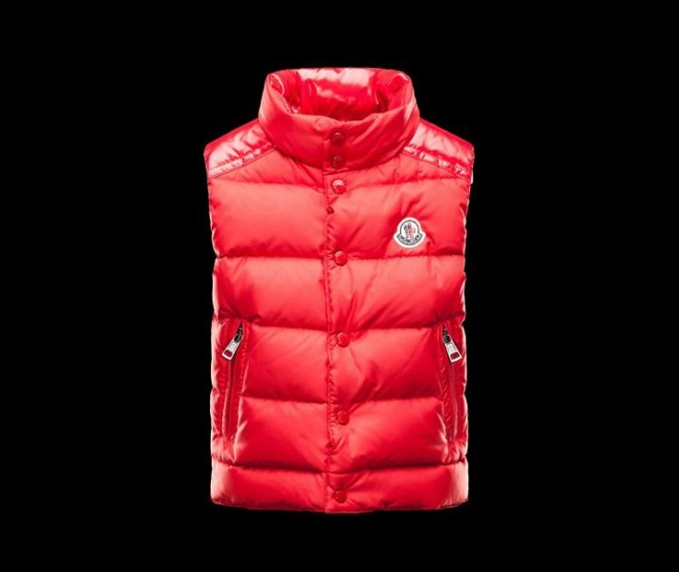Moncler Enfant Cheval Kids Sleeveless Jacket Red