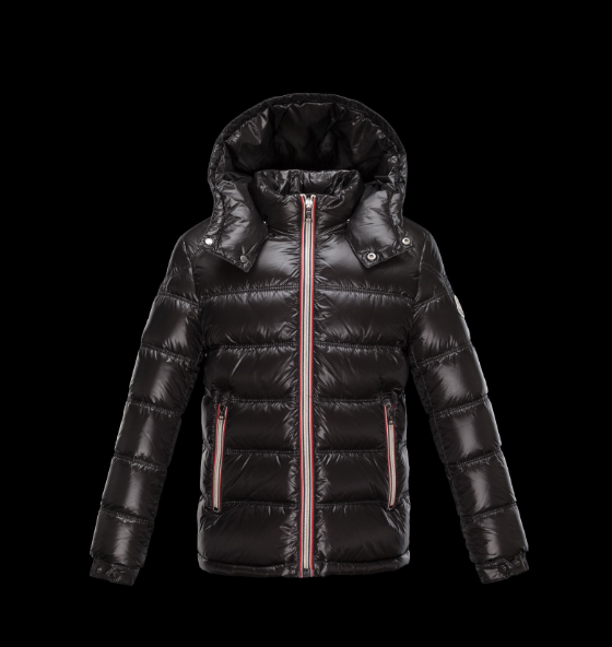 Moncler Enfant Gaston Kids Long Jacket Dark Brown