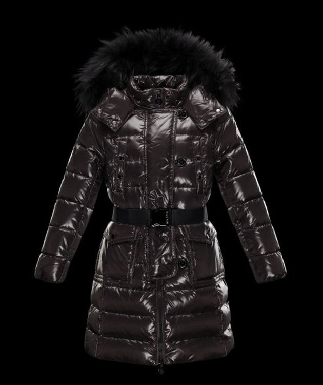 Moncler Enfant Genevrier Kids Jacket Dark Brown
