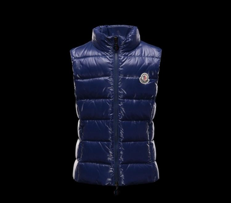 Moncler Enfant Ghany Kids Sleeveless Jacket Blue