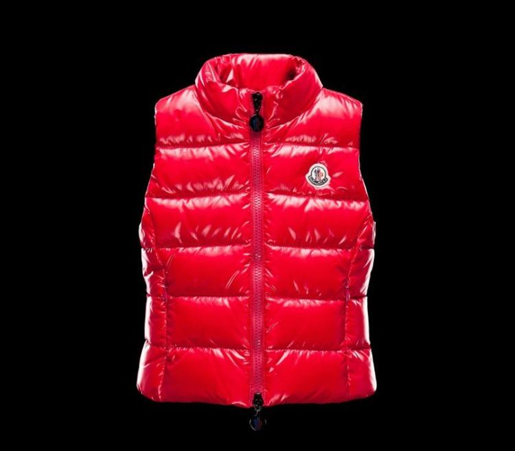 Moncler Enfant Ghany Kids Sleeveless Jacket Red