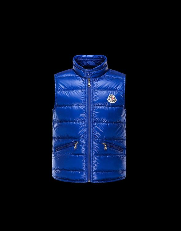 Moncler Enfant Gui Kids Sleeveless Jacket Blue