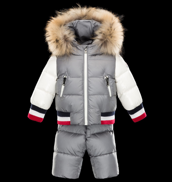 Moncler Enfant Kids Suits Grey White